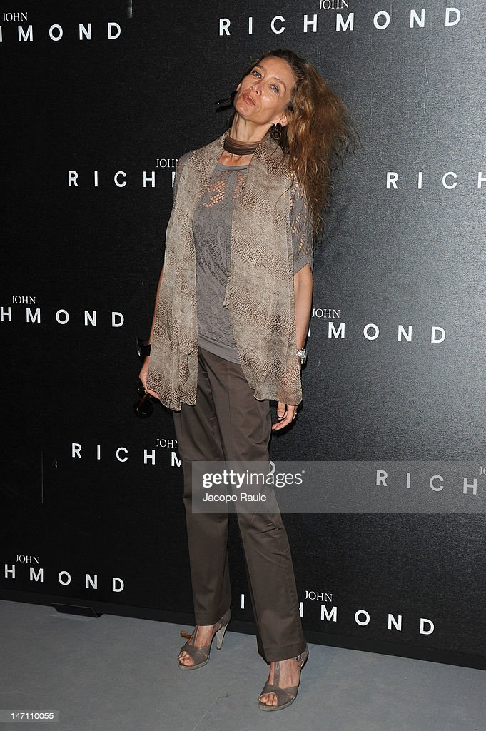 Laura Teso arrives at the John Richmond show as part of Milan Fashion Week Menswear Spring/Summer 2013 on June 25, 2012 in Milan, Italy.