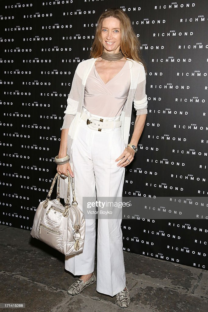 Laura Teso attends the John Richmond show during Milan Menswear Fashion Week Spring Summer 2014 show on June 24, 2013 in Milan, Italy.