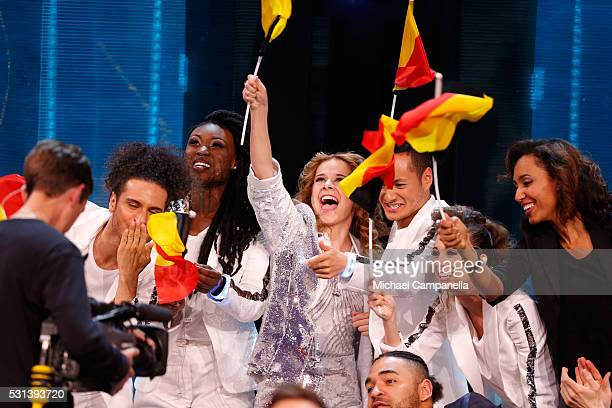 Laura Tesoro representing Belgium is seen at the Ericsson Globe on May 14 2016 in Stockholm Sweden