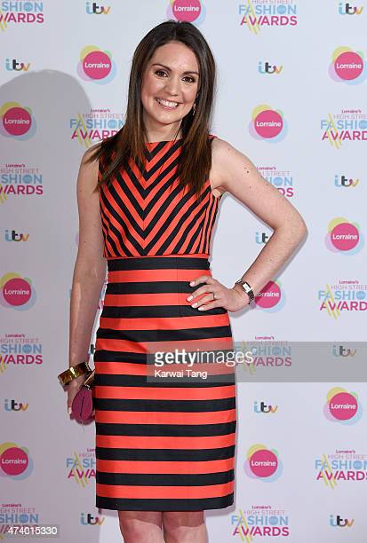 Laura Tobin attends Lorraine's High Street Fashion Awards at Grand Connaught Rooms on May 19 2015 in London England