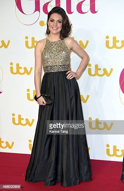 Laura Tobin attends the ITV Gala at London Palladium on November 19 2015 in London England