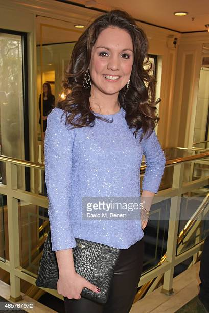 Laura Tobin attends the TRIC Television and Radio Industries Club Awards at The Grosvenor House Hotel on March 10 2015 in London England