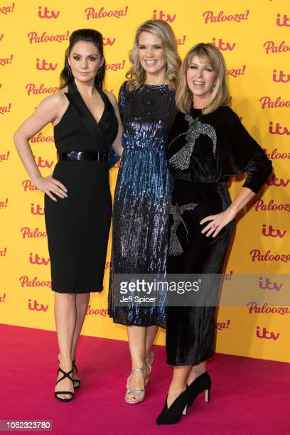 Laura Tobin Charlotte Hawkins and Kate Garraway attend the ITV Palooza held at The Royal Festival Hall on October 16 2018 in London England