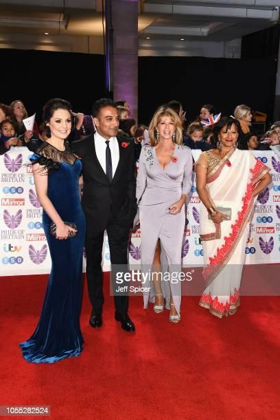 Laura Tobin Ranvir Adil Ray Kate Garraway and Ranvir Singh attend the Pride of Britain Awards 2018 at The Grosvenor House Hotel on October 29 2018 in...