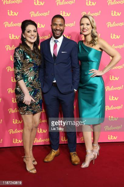 Laura Tobin Sean Fletcher and Charlotte Hawkins attends the ITV Palooza 2019 at The Royal Festival Hall on November 12 2019 in London England