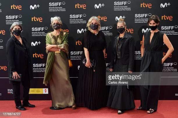 Laura Tous, Alba Tous, Rosa Tous, Marta Tous and director Amanda Sans attend 'Oso' premiere during the 68th San Sebastian International Film Festival...