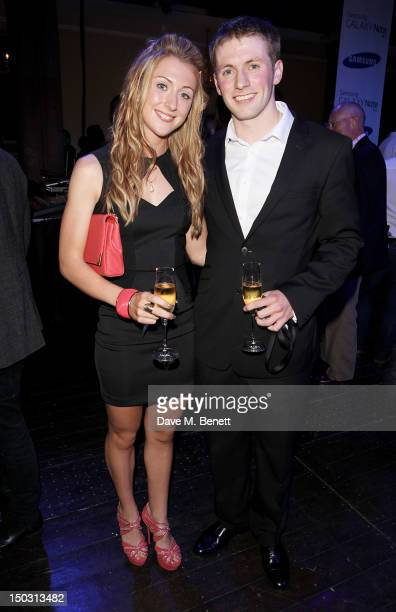 Laura Trott and Jason Kenny attend the Samsung Galaxy Note 101 launch party at One Mayfair on August 15 2012 in London England