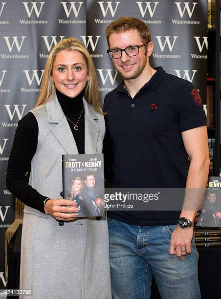 Laura Trott and Jason Kenny during a book signing at Waterstones on November 18 2016 in London England
