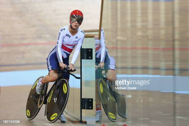 Laura Trott of Great Britain during practise ahead of the UCI Track World Championships at Minsk Arena on February 19 2013 in Minsk Belarus