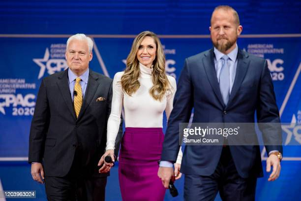Laura Trump , President Donald Trumps daughter in-law and member of his 2020 reelection campaign, walks on stage with Matt Schlapp , Chairman of the...