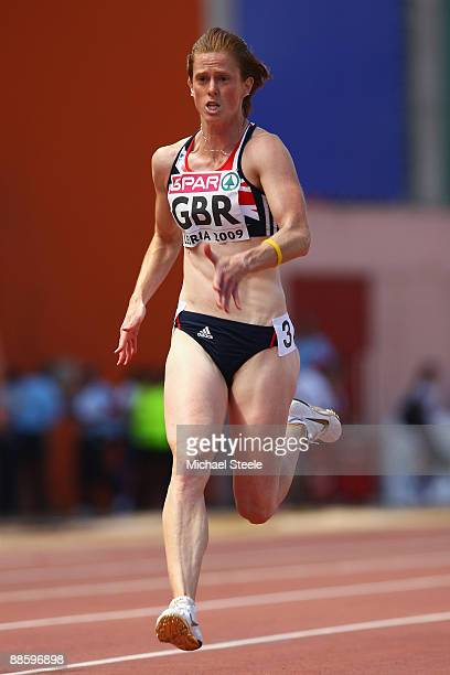 Laura Turner of Great Britain in action during the women's 100m heats during day one of the Spar European Team Championships at the Estadio Municipal...