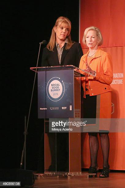 Laura Turner Seydel and United Nations Foundation CEO Kathy Calvin attend the 2015 Social Good Summit at 92Y on September 27 2015 in New York City