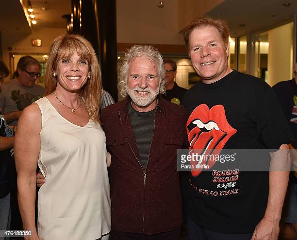 Laura Turner Seydel Chuck Leavell and Rutherford Seydel attend Rolling Stone Chuck Leavell Friends PreConcert VIP Party at Bobby Dodd Stadium on June...