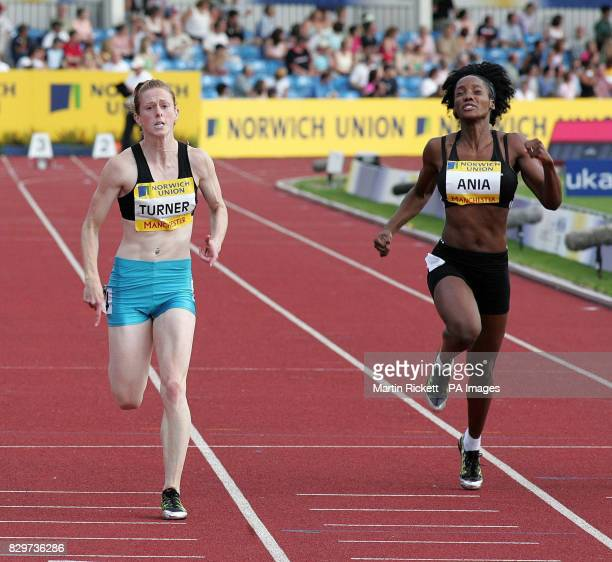 Laura Turner wins the women's 100m final ahead of Emma Ania