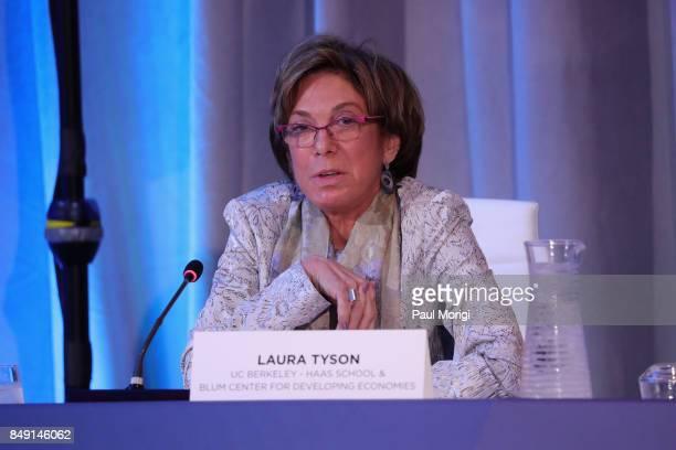 Laura Tyson Distinguished Professor of the Graduate School/Chair Board of Trustees UC BerkeleyHaas School Blum Center for Developing Economics speaks...