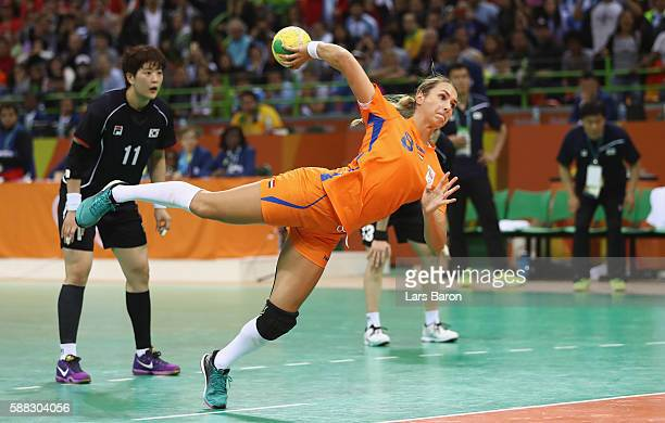 Laura van der Heijden of Netherlands misses the winning penalty during the Womens Preliminary Group A match between Norway and Angola at Future Arena...