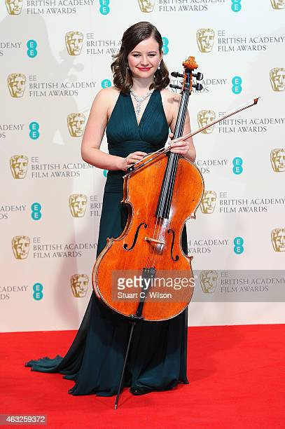 Laura van der Heijden poses in the winners room at the EE British Academy Film Awards at The Royal Opera House on February 8 2015 in London England
