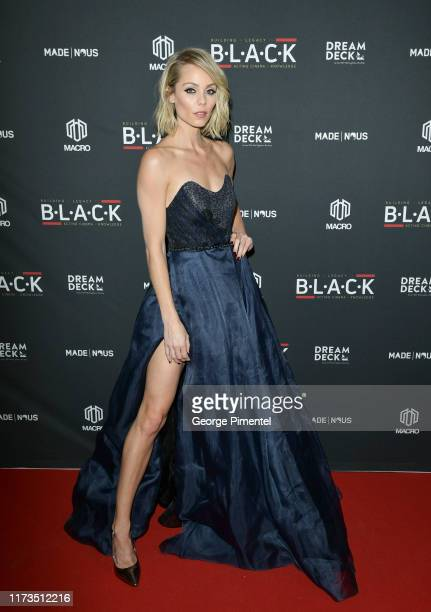 Laura Vandervoort attends The 4th Annual B.L.A.C.K Ball Powered by MACRO and sponsored by MADE | Nous at TIFFat TIFF Bell Lightbox on September 09,...