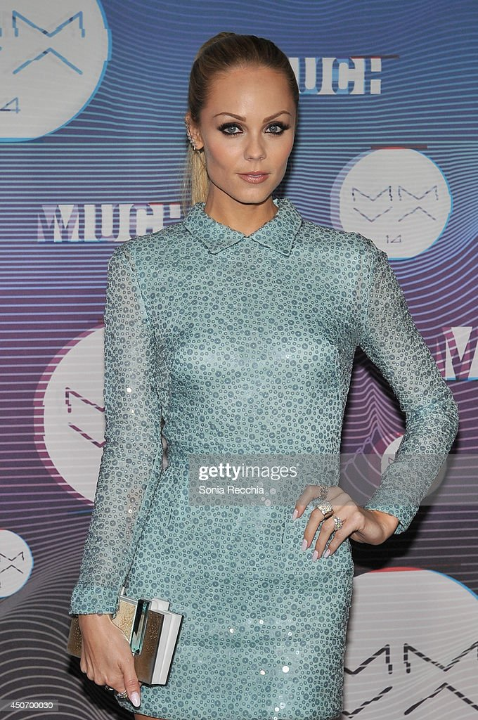 Laura Vandervoort poses in the press room at the 2014 MuchMusic Video Awards at MuchMusic HQ on June 15, 2014 in Toronto, Canada.