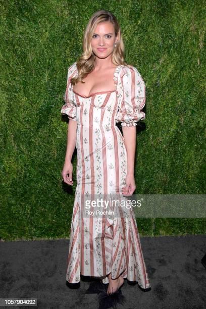 Laura Vassar Brock attends the CFDA / Vogue Fashion Fund 15th Anniversary Event at Brooklyn Navy Yard on November 5 2018 in Brooklyn New York