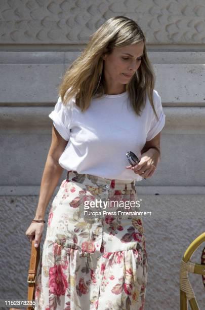 Laura Vecino and her husband Rafa Medina are seen on May 23 2019 in Madrid Spain