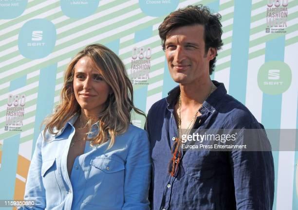 Laura Vecino and Rafa Medina attend Laura Vecino's Photocall during Barcelona 080 Fashion Week Spring/Summer 2020 on June 28 2019 in Barcelona Spain
