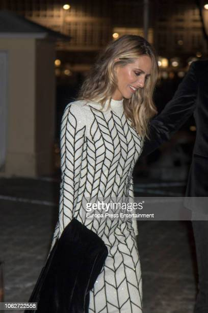Laura Vecino is seen attending Marta Ortega's Wedding preparty at Nautical Club on November 16 2018 in A Coruna Spain