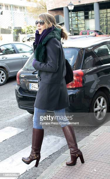Laura Vecino is sighted on February 8 2012 in Madrid Spain