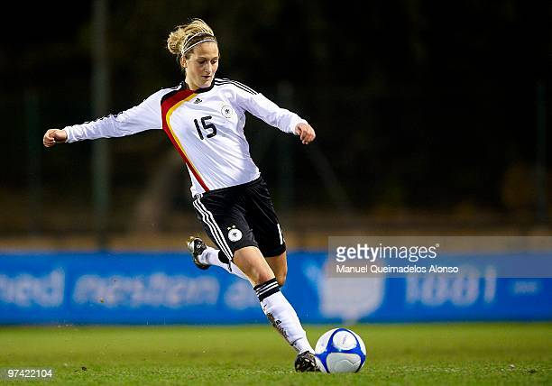 Laura Vetterlein of Germany in action during the women's international friendly match between Germany and USA on March 3, 2010 in La Manga, Spain....