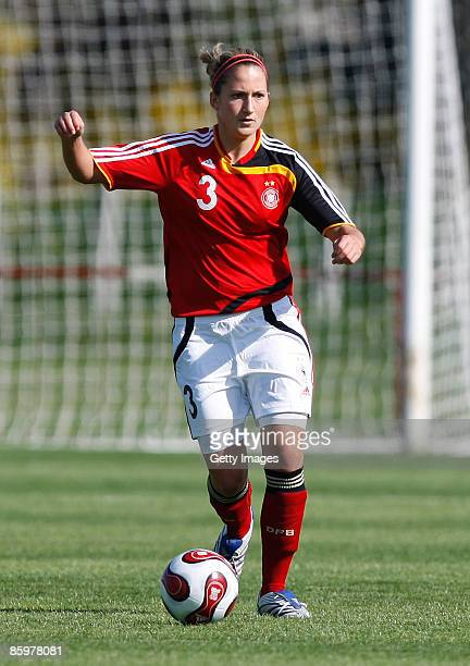 Laura Vetterlein of Germany runs with the ball during the U17 women international friendly match between Germany and Switzerland at the Buek stadium...