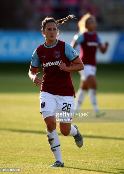 Laura Vetterlein of West Ham United during the Barclays FA Women's Super League match between West Ham United and Arsenal at Chigwell Construction...