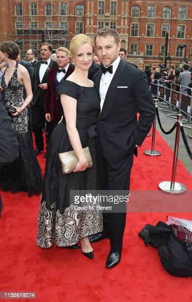 Laura Wade and Samuel West attend The Olivier Awards 2019 with Mastercard at The Royal Albert Hall on April 7, 2019 in London, England.