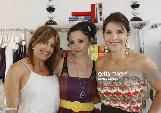 Laura Wasserman, Designer Stacey Bendet and Lauren Sanchez attend Alice + Olivia Tea Party Benefitting Children's Defense Fund on May 23, 2010 in Los...
