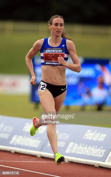 Laura Weightman in action in round 2 of the women's 1500 metres heats during the British Athletics World Championships Team Trials at Birmingham...