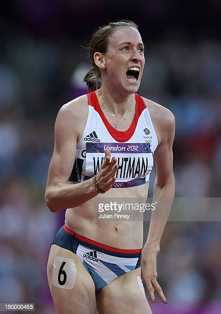 Laura Weightman of Great Britain competes in the Women's 1500m Semifinals on Day 12 of the London 2012 Olympic Games at Olympic Stadium on August 8...