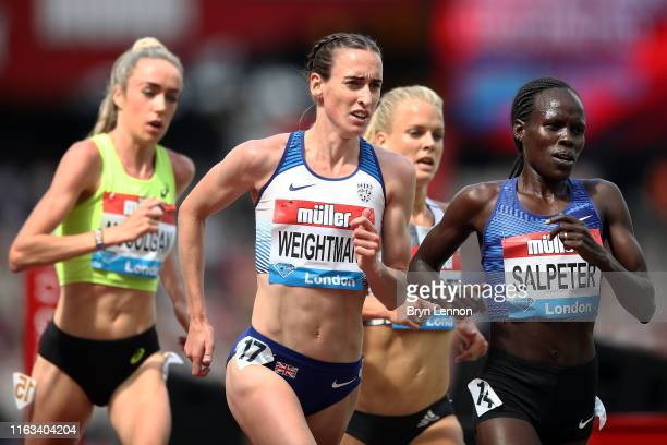 Laura Weightman of Great Britain competes in the Women's 5000m during Day Two of the Muller Anniversary Games IAAF Diamond League event at the London...
