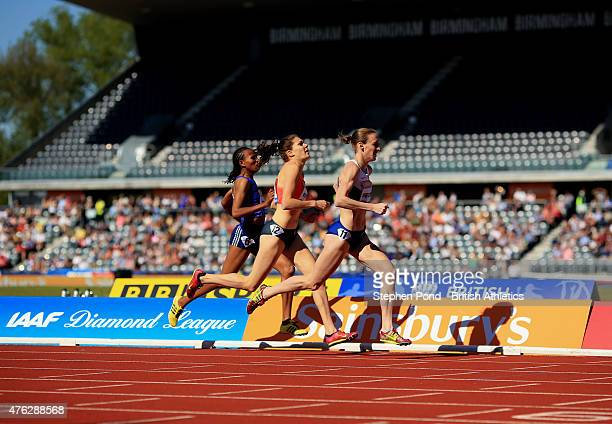 Laura Weightman of Great Britain finishes third in the womens 1500m during the Sainsbury's Birmingham Grand Prix Diamond League event at Alexander...