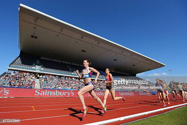 Laura Weightman of Great Britain in action in the Women's 1500m during the Sainsbury's Birmingham Grand Prix Diamond League at The Alexander Stadium...