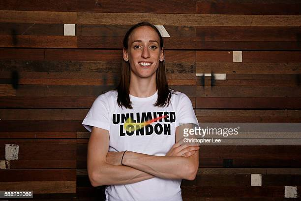 Laura Weightman poses after the Unlimited London Parade at Nike Town on July 24 2016 in London England