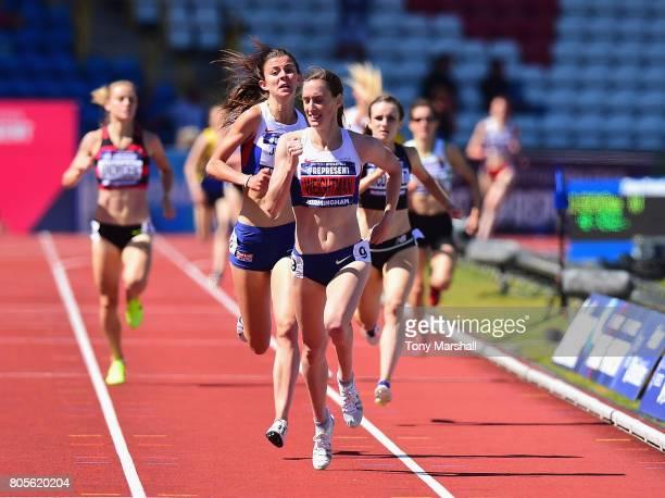 Laura Weightman winning the Womens 1500m Final during the British Athletics World Championships Team Trials at Birmingham Alexander Stadium on July 2...