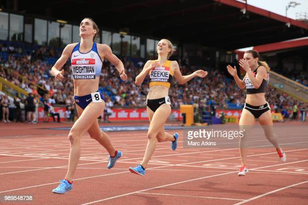Laura Weightman wins during the Women's 1500m Final during Day Two of the Muller British Athletics Championships at the Alexander Stadium on July 1...