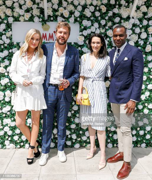 Laura Whitemore Ian Sterling Sian Clifford and Kadiff Kirwan attend day 13 of Wimbledon 2019 at the All England Lawn Tennis and Croquet Club hosted...