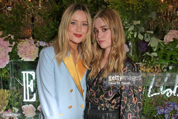 Laura Whitmore and Aimee Lou Wood celebrate The ELLE List in association with MAGNUM ice cream on June 19 2019 in London England