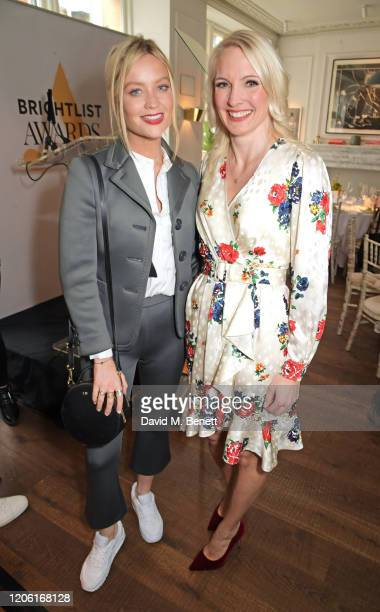 Laura Whitmore and Anna Jones attend AllBright's inaugural BrightList Awards 2020 at allfemale members club The AllBright Mayfair on March 9 2020 in...