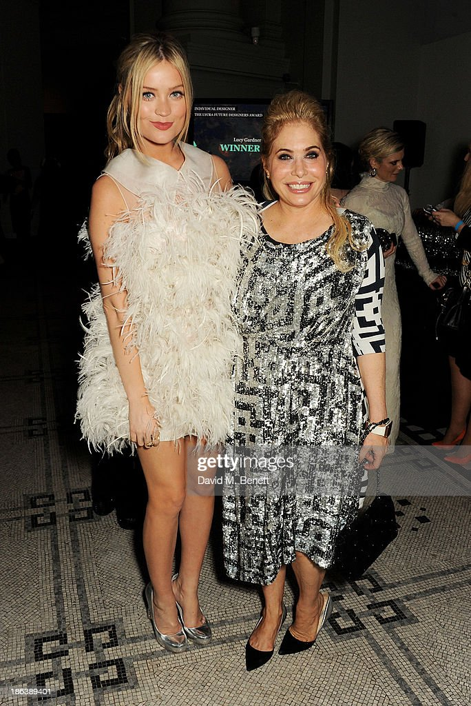 Laura Whitmore (L) and Brix Smith Start pose backstage at The WGSN Global Fashion Awards at the Victoria & Albert Museum on October 30, 2013 in London, England.