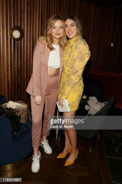 Laura Whitmore and Gina Martin attend a party hosted by Gina Martin and Ryan Whelan to celebrate the Royal ascent into law of the Voyeurism Bill...