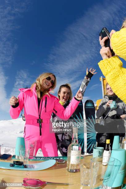 Laura Whitmore and guests attend Casamigos in the Snow on December 04 2019 in Verbier Switzerland