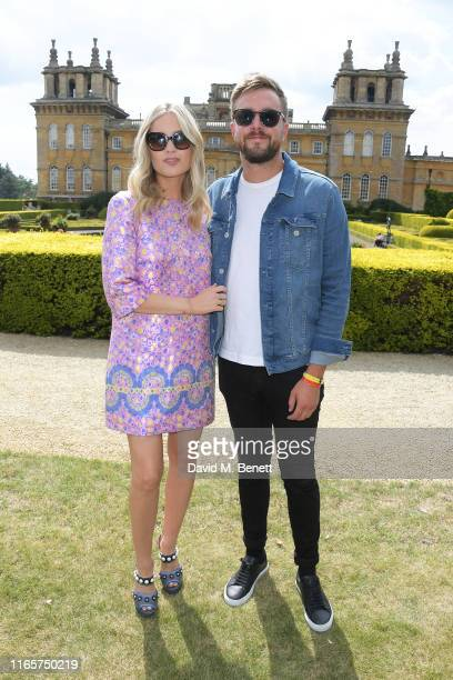 Laura Whitmore and Iain Stirling attend The Gentleman's Journal and Bicester Village Long Summer Lunch on August 02 2019 in Woodstock England
