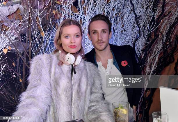 Laura Whitmore and Kye Sones attend the Johnnie Walker Frozen Forest popup in Shoreditch to celebrate the launch of the limitededition White Walker...