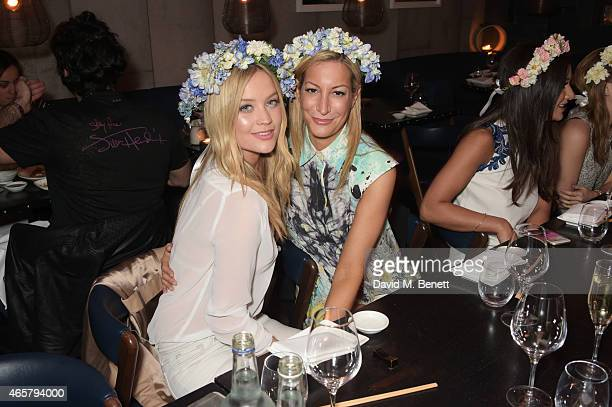 Laura Whitmore and Laura Pradelska attend a private dinner to celebrate the launch of the Millie Mackintosh Spring/Summer 2015 Collection at Ramusake...